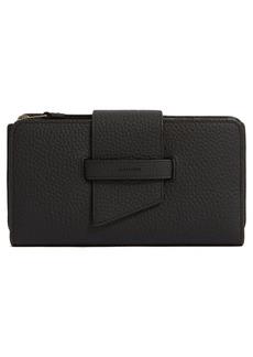 Women's Allsaints Ray Leather Wallet - Black