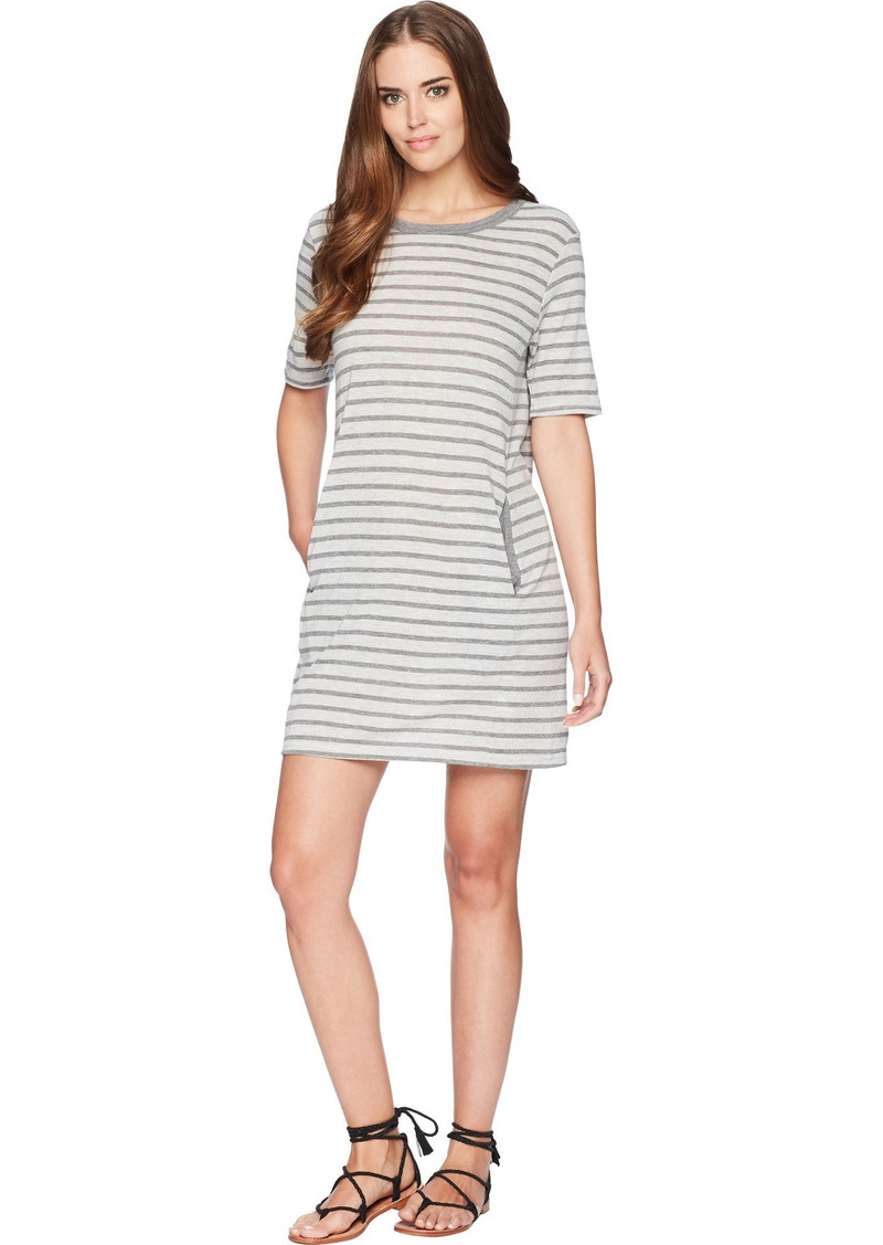 Alternative Apparel Alternative Women's Pocket T-Shirt Dress eco Grey Riviera Stripe X Large