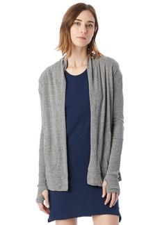 Alternative Apparel Alternative Women's Rib Sleeve Jersey Wrap Cardigan