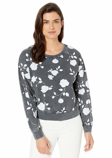Alternative Apparel Alternative Women's The deb Printed Burnout French Terry Cropped Pullover