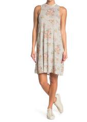 Alternative Apparel Eco A-Line Floral Print Tank Dress
