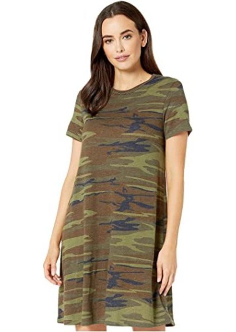Alternative Apparel Eco-Jersey Printed Flare T-Shirt Dress