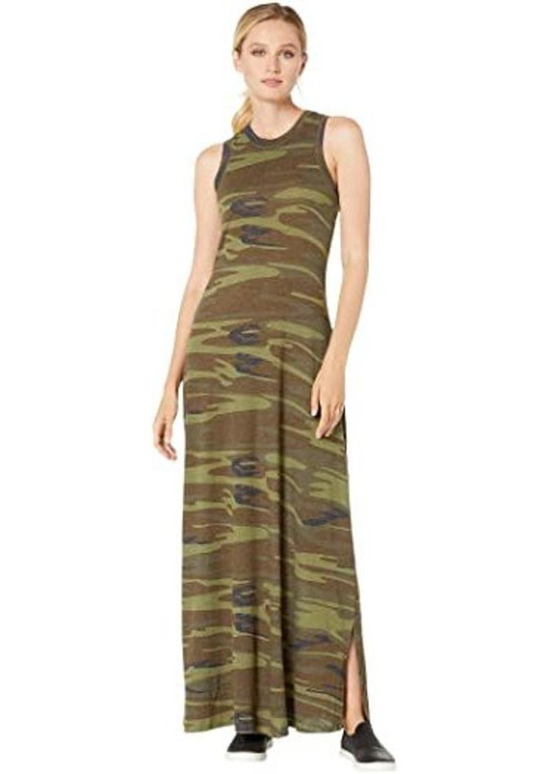 Alternative Apparel Eco-Jersey Printed Side Slit Maxi Dress Tank Dress