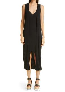 Altuzarra Alyssa V-Neck Double Layer Stretch Crepe Dress