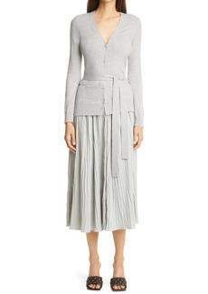 Altuzarra Manuel Pleated Long Sleeve Dress