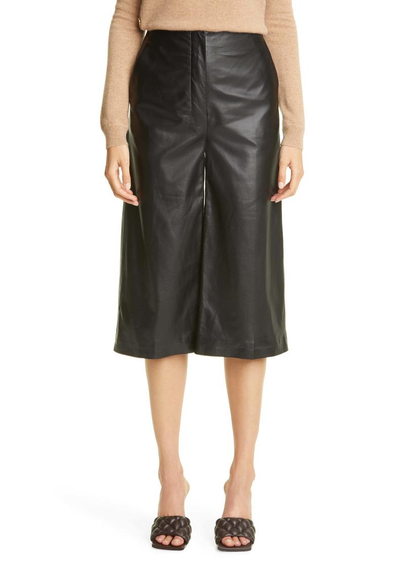 Altuzarra Sam High Waist Leather Culottes