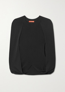 Altuzarra Buttercup Cape-effect Knitted Top