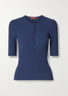 Altuzarra Dory Ribbed-knit Top