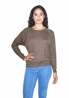 American Apparel Women's Blend Lightweight Long Sleeve Pullover Tri-Coffee