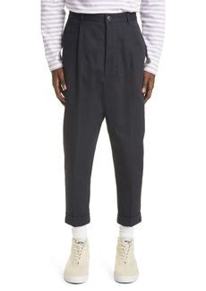 AMI Alexandre Mattiussi Oversize Carrot Fit Organic Cotton Trousers