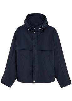 AMI Hooded Cotton Canvas Zip Jacket