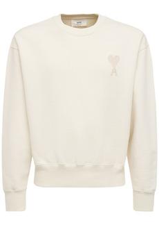 AMI Logo Embro Boxy Cotton Jersey Sweatshirt