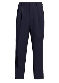 AMI Pleated Wide-Fit Wool Trousers