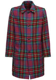 AMI Prince Of Wales Wool Coat