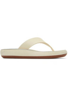 Ancient Greek Sandals Off-White Comfort Sole Charys Sandals