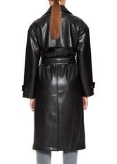 ANINE BING Finley Faux Leather Trench Coat