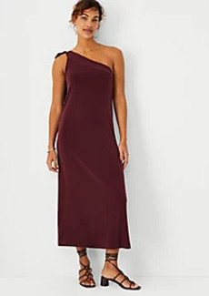 Ann Taylor Bow One Shoulder Midi Dress