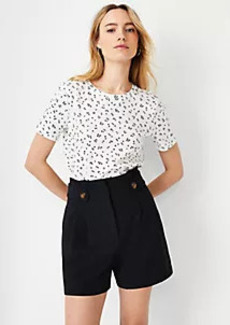 Ann Taylor Cherry Pima Cotton Tee