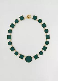 Ann Taylor Geo Enamel Statement Necklace