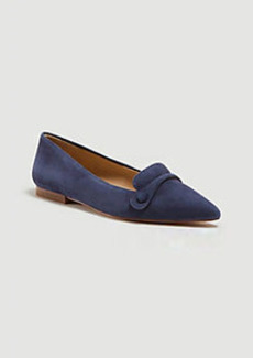 Ann Taylor January Suede Button Flats