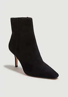 Ann Taylor Kody Suede High Heeled Booties