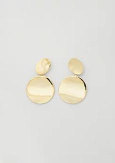Ann Taylor Metal Circle Statement Earrings