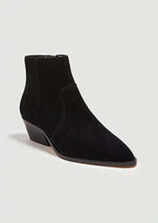 Ann Taylor Ophera Suede Flat Booties