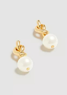 Ann Taylor Pearlized Knot Drop Earrings