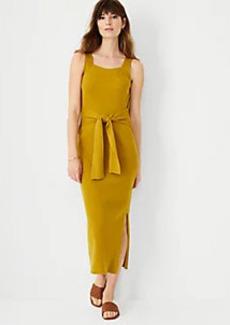 Ann Taylor Sleeveless Tie Waist Sweater Dress