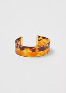 Ann Taylor Striped Tortoiseshell Print Cuff Bracelet