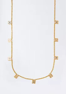 Ann Taylor Studded Clover Station Necklace