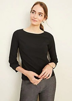 Ann Taylor The Petite Boatneck Top in Bi-Stretch