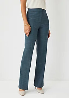 Ann Taylor The Petite High Rise Trouser Pant in Crosshatch - Curvy Fit