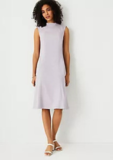 Ann Taylor The Petite Mock Neck Sheath Dress