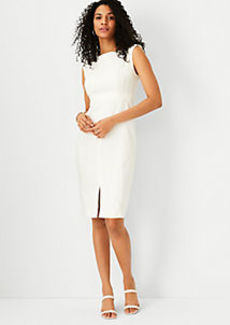 Ann Taylor The Petite Seamed Sheath Dress in Linen Blend