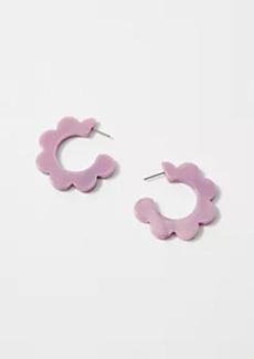 Ann Taylor Tortoiseshell Print Petal Hoop Earrings
