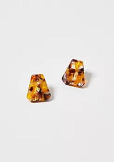 Ann Taylor Triangle Tortoiseshell Print Stud Earrings