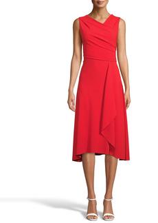 Anne Klein Asymmetrical Draped Dress