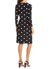 Anne Klein Dot Print Long Sleeve Wrap Dress