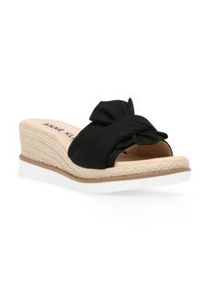 Anne Klein Hilaria Espadrille Platform Wedge Slide Sandal (Women)
