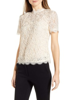 Anne Klein Lace Short Sleeve Blouse