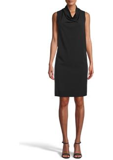 Anne Klein Sleeveless Cowl Neck Shift Dress