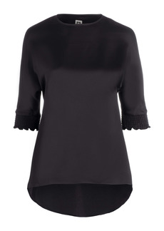Anne Klein Smocked Sleeve Tunic Blouse