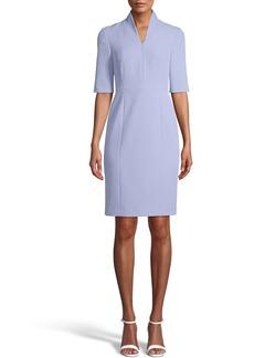 Anne Klein Zip Front Sheath Dress