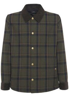 A.P.C. Alan Check Wool Blend Shirt Jacket