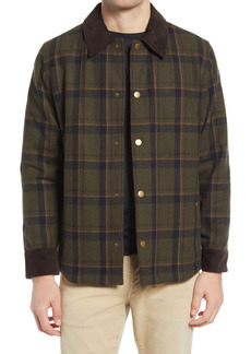 A.P.C. Alan Plaid Wool Blend Shirt Jacket