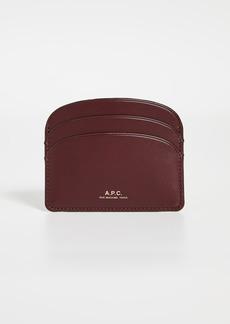 A.P.C. Porte Carte Demi Lune Card Case