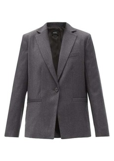 A.P.C. Savannah single-breasted wool blazer