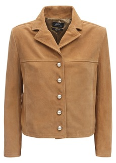 A.P.C. Cropped Suede Jacket