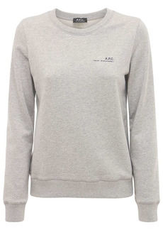 A.P.C. Logo Cotton Fleece Sweatshirt